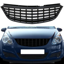 BLACK BADGELESS DEBADGED SPORT GRILLE GRILLE FOR VAUXHALL OPEL CORSA D 07-09