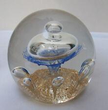 """Selkirk? ORO Aventurine Flake anelli di Saturno Studio glass paperweight 3.5"""" grandi"""