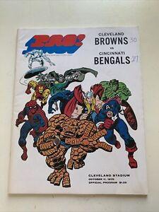 1970 Cleveland Browns Cincinnati Bengals Football Program Marvel Hulk Thor