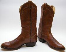 MENS VTG TONY LAMA 5084 BROWN LEATHER COWBOY WESTERN BOOTS SZ 10.5~1/2 B NARROW
