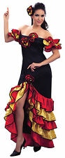 Ladies Spanish Rumba Latin Dance Fancy Dress Costume Dancer Womens UK 10-14