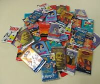 Disney and Cartoon and Graded Card Lot 300 Assorted Unopened Sealed Packs