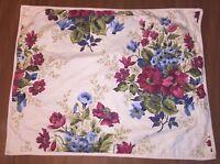 1 CHAPS by RALPH LAUREN Floral Standard Size Pillow Sham 29x22 Red Blue Floral