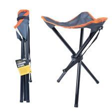 Milestone Compact Outdoor Tripod Stool Folding Leisure Stool - Grey, 33 x 33 x 4