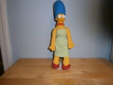 """11"""" Stuffed plush The Simpson's MARGE SIMPSON DOLL 1990 With Stand"""