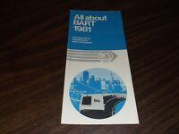 1981 BART SYSTEM METRO SAN FRANCISCO MAP TRANSPORTATION GUIDE