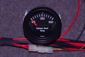 VDO Cockpit Black 6/12V Cylinder Head Temperature Gauge CHT Temp Porsche BMW R69