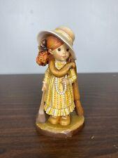 """ANRI Sarah Kay Dress Up 6"""" Wood Carving Figure Italy 244/2000 signed Bernardi"""