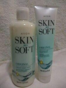 AVON SSS Original w/Jojoba Oil Body Wash 11.8oz & Replenishing Hand Cream 3.4oz