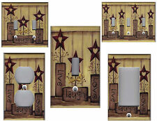 COUNTRY BARN STAR LIVE LOVE LAUGH HOME DECOR LIGHT SWITCH PLATE