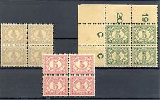 NED INDIE # 107, 110/111  x 4   KW € 68  ** MNH   PF  @8