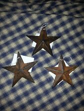 "Set of 12 Primitive Rusty 3.5"" Barn Stars - Decorate, Craft, Ornaments, Rustic"