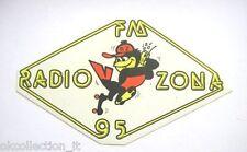 ADESIVO RADIO anni '90 / Old Sticker _ RADIO ZONA 95 (cm 15 x 9)