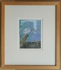 Salmon & Ducks. Expressionist mixed media by listed artist Valérie Teneze 1988