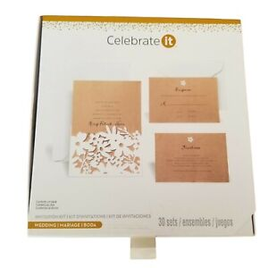 Wedding Invitation Kit 60 count Laser Cut Michaels Celebrate It Print Your Own