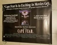 Cape Fear movie poster - Robert De Niro, Nick Nolte, Martin Scorsese