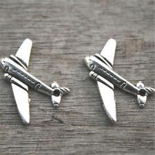 20pcs Airplane Charms silver tone Mini Aircraft plane charm pendants 22x15mm