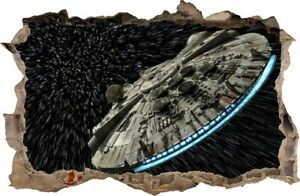 WALL STICKERS HOLE IN THE WALL STAR WARS The Millennium Falcon 102