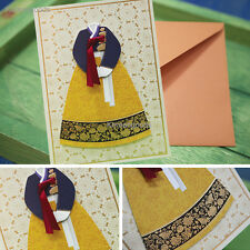 KOREA Traditional Congratulatory invite Card Wedding Day  Thank You gift card 한복