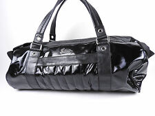 Auth GUCCI Joy Line Big Tote Bag Boston Bag PVC Leather Black 194452 A-5330