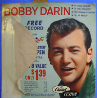 Scripto presents Bobby Darin IF A MAN ANSWERS / SERMON OF SAMSON Capitol EP G+