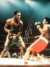More details for smokin' joe frazier v muhammad ali signed 16x20 boxing photograph + proof + coa