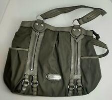 ETIENNE AIGNER Womens Nylon Handbag Shoulder Bag Purse Army Green