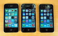 Lot of (3) Apple iPhone 4/4S 8GB 16GB Verizon Cracked Screens