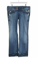 Pepe Jeans Womens Jeans W36 L34 Blue Cotton Flare