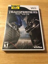 Transformers: The Game (Nintendo Wii, 2007) Brand New Sealed