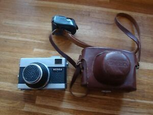 Vintage Werra 1 Carl Zeiss  Tessar  35mm Camera 2.8 50mm Lens With Leather Case