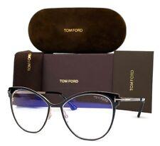 Tom Ford FT5530-B 001 Black / Blue Block 54mm Eyeglasses TF5530-B