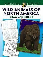 Adult Coloring: Creative Haven Wild Animals of North America Draw and Color...