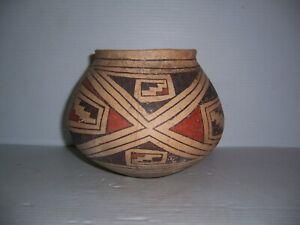 "Pre-Columbian Casas Grandes Polychrome Pottery Olla Jar Pot Vessel Artifact 6"""