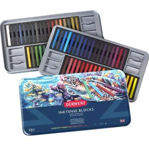 NEW 72 Derwent InkTense Blocks Sticks Mix Water Full Range Colour Tin Set Crayon