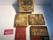Mah Jong Mahjong Set Wooden Tiles Wood Vintage Chinese Domino Game Babcock