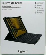 """Logitech Universal Folio Keyboard Case 9-10"""" Tablet Apple Android Bluetooth NEW"""