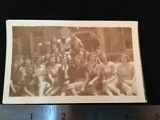 1950's Photo Men Women Group Students Family Dresses Sitting Standing