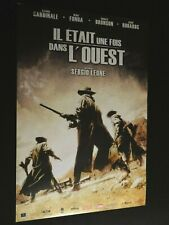 IL ETAIT UNE FOIS DANS L'OUEST Sergio Leone affiche cinema  ressortie western