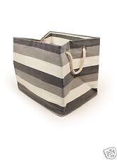 New England Black & White Heavy Duty Fabric Large Rectangular Storage Bag 22893