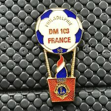 pins pin's  lions club 1998 france montgolfiere balloon