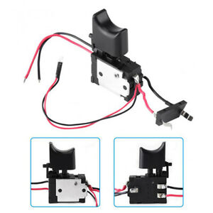 Electric Cordless Drill Trigger Switch 16A 7.2V-24V Push Button With Small Light
