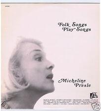 LP MICHELINE PRESLE FOLK SONGS PLAY SONGS
