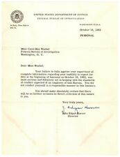 Archive of Five Letters Signed by J. Edgar Hoover - Punishes Female Fbi Employee