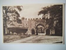 Hinchingbrooke House Entrance Archway Old Postcard Sepiatype Valentines