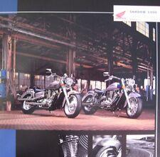 2002 Honda Shadow 1100 Motorcycle Brochure Sabre Aero Spirit Xlnt