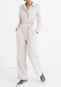NWT Madewell Corduroy Belted Jumpsuit Size6 K3347 Purple Pink