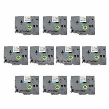 10pk Black on White Label Tape Compatible for Brother PTouch TZ TZe S231 12mm