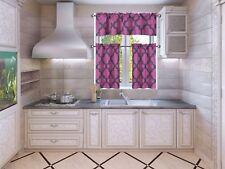 Trellis Geometric Panel Blackout Lined Window Kitchen 3PC Curtain Set MOZA