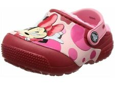 CROCS Girls Minnie Mouse Lined Clog Child/Toddler Size C7 NWT